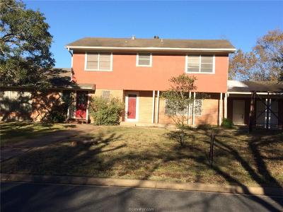 College Station Single Family Home For Sale: 201 Gilchrist/1209 Foster