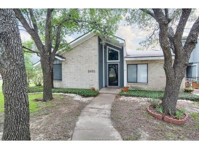 Bryan Condo/Townhouse For Sale: 2401 Memorial Drive