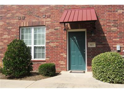 College Station Condo/Townhouse For Sale: 801 Luther Street #903