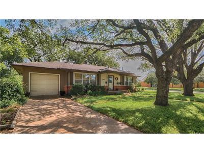 Bryan Single Family Home For Sale: 1610 Burt Street