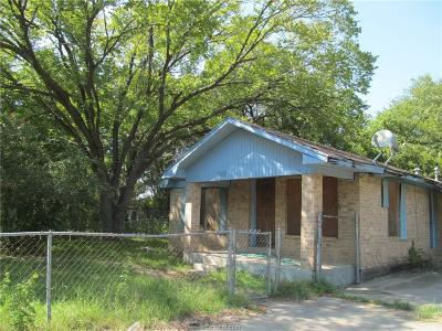 Bryan Single Family Home For Sale: 1902 West Martin Luther King Jr Street