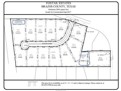 bryan Residential Lots & Land For Sale: Lot 3 Foxtail Court