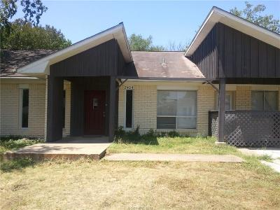 Bryan TX Single Family Home For Sale: $149,000
