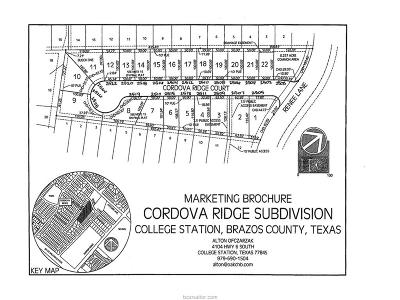 College Station Residential Lots & Land For Sale: 2504 Cordova Ridge Lane
