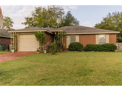 Bryan TX Single Family Home For Sale: $153,900