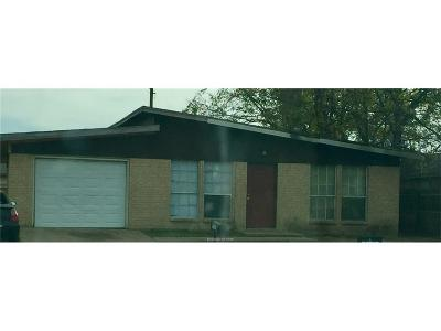 Bryan TX Single Family Home For Sale: $60,000