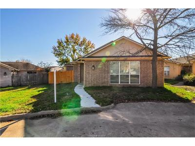 Bryan , College Station  Single Family Home For Sale: 1816 Brothers Boulevard #9