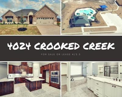 College Station Single Family Home For Sale: 4024 Crooked Creek