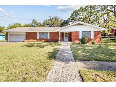 Bryan TX Single Family Home For Sale: $164,900
