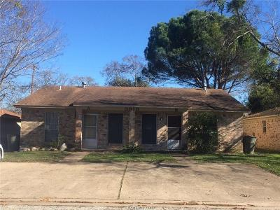 Brazos County Multi Family Home For Sale: 3919 Olive Street