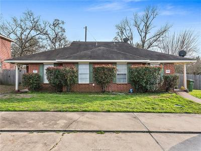 Brazos County Multi Family Home For Sale: 2126 Hidden Hollow #A/B