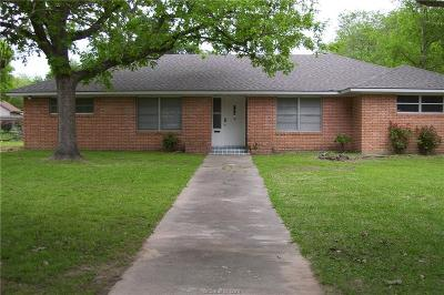 Navasota Single Family Home For Sale: 312 North Post Oak Street