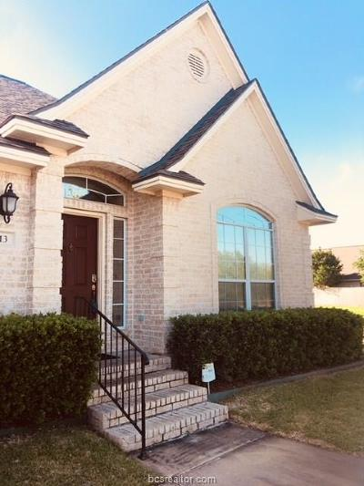 College Station Condo/Townhouse For Sale: 613 Fraternity