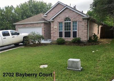 Brazos County Single Family Home For Sale: 2702 Bayberry Court