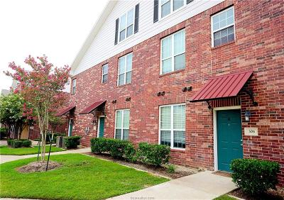 College Station Condo/Townhouse For Sale: 801 Luther Street #306