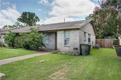 Brazos County Multi Family Home For Sale: 3408 Leon Street