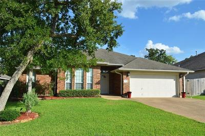 Bryan , College Station  Single Family Home For Sale: 1514 Hunter Creek