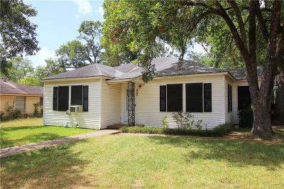 Bryan TX Single Family Home For Sale: $68,500