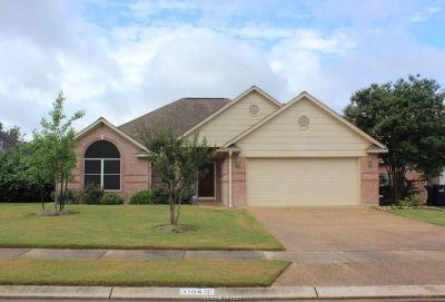 Brazos County Single Family Home For Sale: 3104 Pleasant Grove Drive