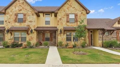 Bryan  , College Station Condo/Townhouse For Sale: 3312 Wakewell