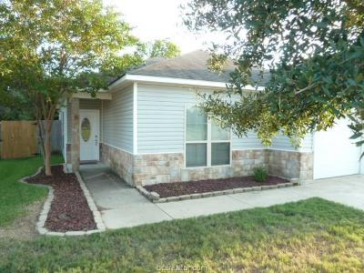 Bryan TX Single Family Home For Sale: $156,500