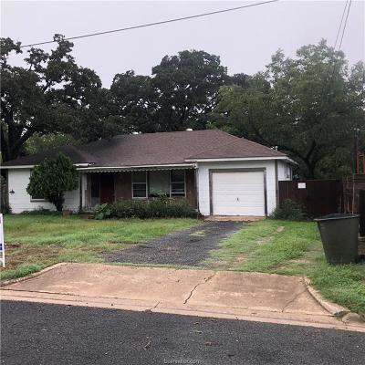 Bryan TX Single Family Home For Sale: $43,500