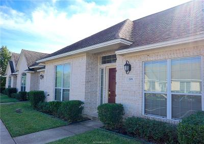 College Station Condo/Townhouse For Sale: 206 Fraternity