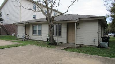 Brazos County Multi Family Home For Sale: 411 Tauber Street #A