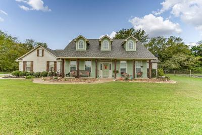 Hearne Single Family Home For Sale: 8333 Wheelock Hall Road