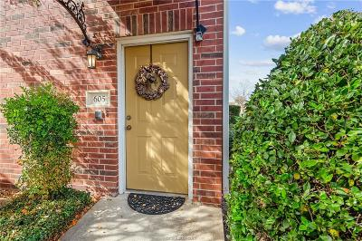 Brazos County Condo/Townhouse For Sale: 801 Luther Street #605