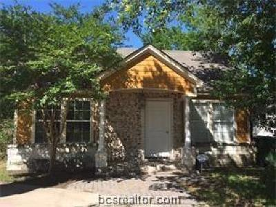 Bryan Single Family Home For Sale: 1100 East 28th Street
