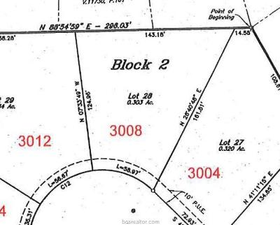 Bryan Residential Lots & Land For Sale: 3008 Balsam Court