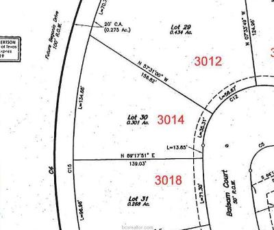 Bryan Residential Lots & Land For Sale: 3014 Balsam Court