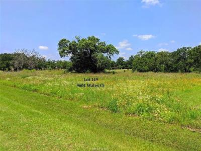 College Station, Bryan, Iola, Caldwell, Navasota, Franklin, Madisonville, North Zulch, Hearne Residential Lots & Land For Sale: 9604 Wales Court