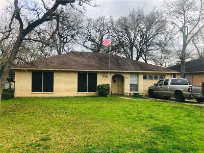 Bryan , College Station Single Family Home For Sale: 2506 Glacier Drive