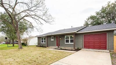 Bryan Single Family Home For Sale: 3021 Kim Street