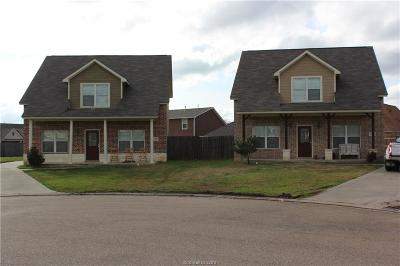 Brazos County Multi Family Home For Sale: 2604 & 2606 Mandi Court