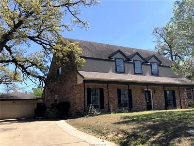 Bryan Single Family Home For Sale: 2510 Memorial Drive