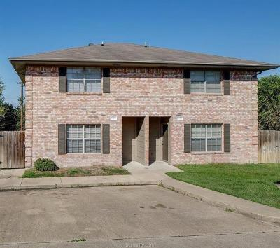 Brazos County Multi Family Home For Sale: 1205 Vinyard #A/B