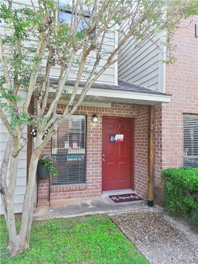 Brazos County Condo/Townhouse For Sale: 1904 Dartmouth Street #F2