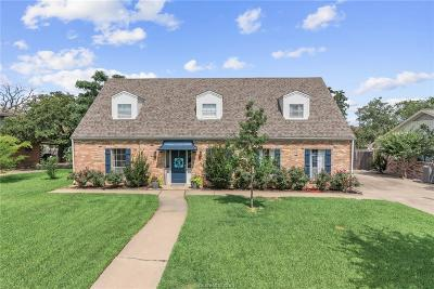 Bryan Single Family Home For Sale: 2507 Memorial Drive