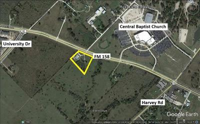 Brazos County Residential Lots & Land For Sale: 1900 Fm 158 Road