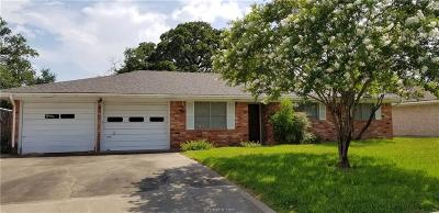 Bryan Single Family Home For Sale: 3512 Carter Creek Parkway