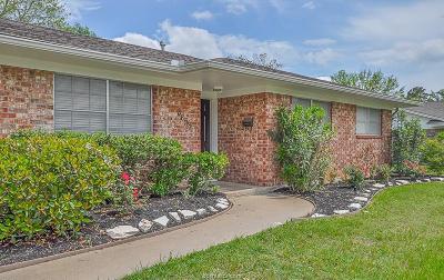 Bryan Single Family Home For Sale: 3807 Craig Street