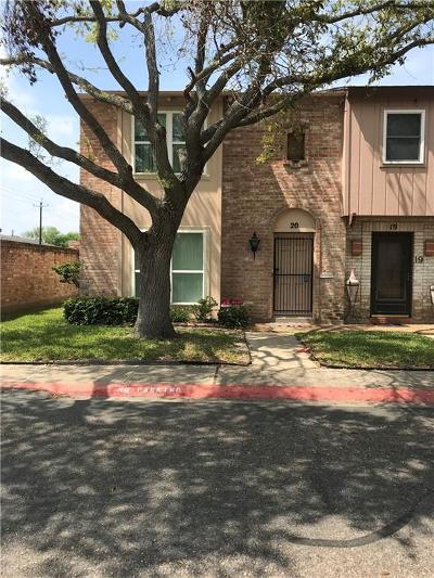 Corpus Christi Condo/Townhouse For Sale: 20 Townhouse