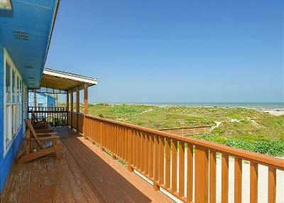 Port Aransas Single Family Home For Sale: 1814 On The Beach