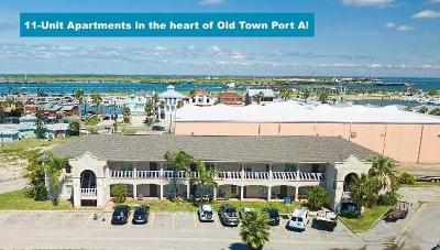 Port Aransas Multi Family Home For Sale: 347 W Cotter Ave #Lot 2A