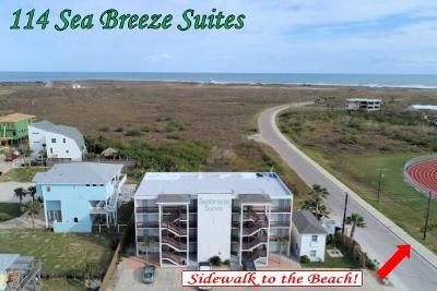 Port Aransas Condo/Townhouse For Sale: 407 Beach Ave #114