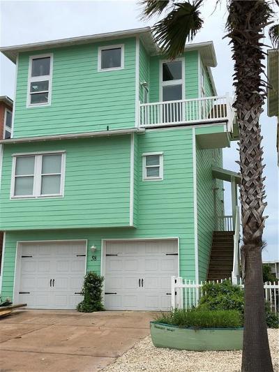 Port Aransas Single Family Home For Sale: 2525 S 11th Street #58