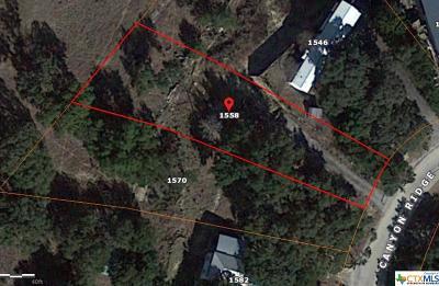 Canyon Lake Residential Lots & Land For Sale: 1558 Canyon Ridge Drive